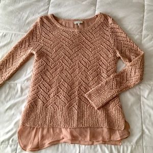 Lucky Brand layered-look sweater